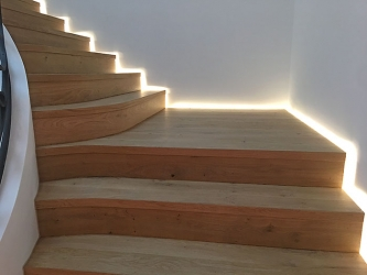 Stairs with side lights - 012