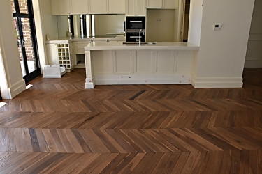 European Oak boards hand stained engineered French Oak solid chevron - 006