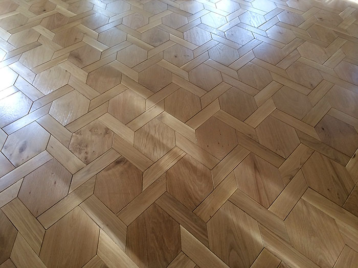 Kensington pattern European Oak clear finish - 001